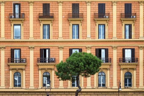 Dolce Vita Rome Collection - Orange Building Facade Photographic Print