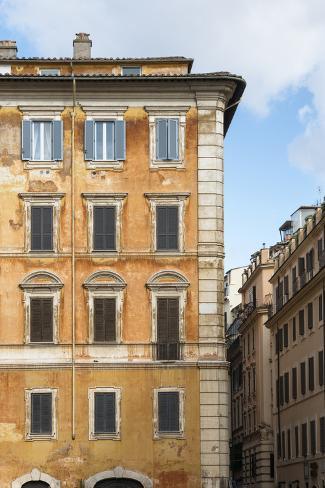 Dolce Vita Rome Collection - Orange Buildings Facade II Photographic Print
