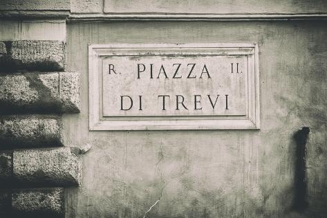 Dolce Vita Rome Collection - Piazza di Trevi II Photographic Print