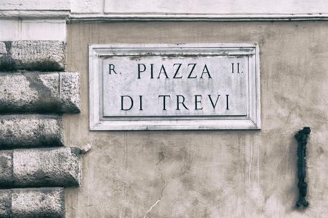 Dolce Vita Rome Collection - Piazza di Trevi Photographic Print