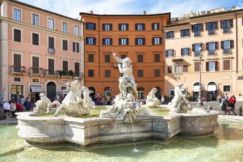 Dolce Vita Rome Collection - Piazza Navona Photographic Print