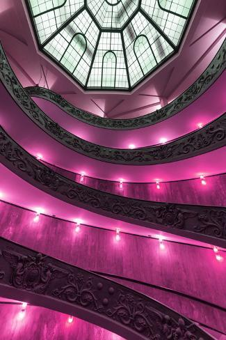Dolce Vita Rome Collection - Pink Vatican Staircase Photographic Print