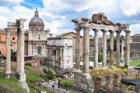 Dolce Vita Rome Collection - Roman Columns Rome II Photographic Print