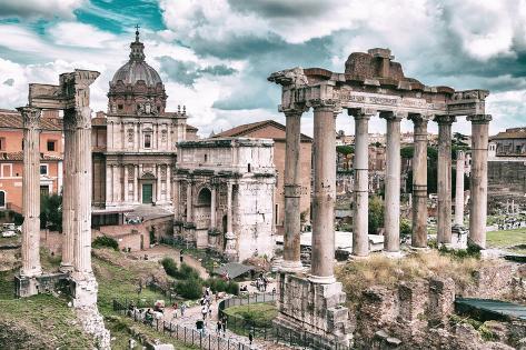 Dolce Vita Rome Collection - Roman Columns Rome III Photographic Print