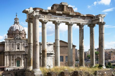 Dolce Vita Rome Collection - Roman Columns Rome Photographic Print