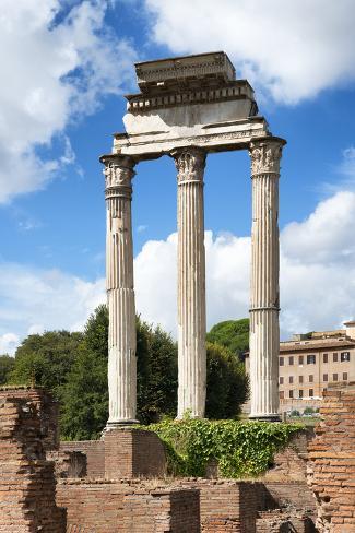 Dolce Vita Rome Collection - Ruined Roman Pillars Photographic Print