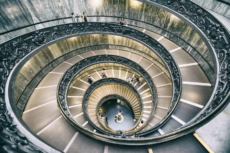 Dolce Vita Rome Collection - Spiral Staircase III Photographic Print