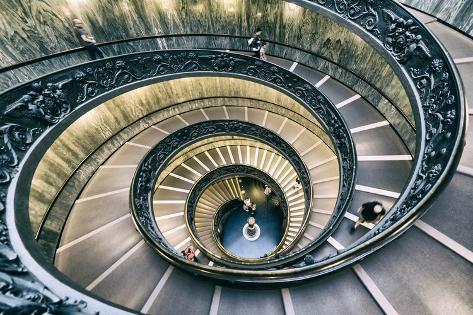 Dolce Vita Rome Collection - Spiral Staircase V Photographic Print