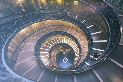 Dolce Vita Rome Collection - Spiral Staircase VI Photographic Print