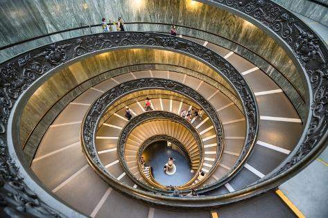 Dolce Vita Rome Collection - Spiral Staircase Photographic Print