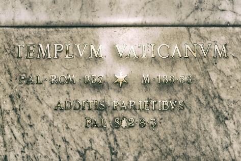 Dolce Vita Rome Collection - Templvm Vaticanvm Photographic Print