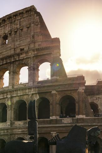 Dolce Vita Rome Collection - The Colosseum at Sunrise II Photographic Print