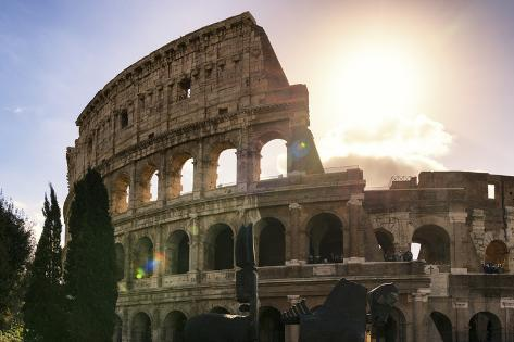 Dolce Vita Rome Collection - The Colosseum at Sunrise Photographic Print