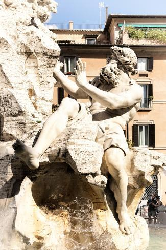 Dolce Vita Rome Collection - The Four Rivers Fountain in Piazza Navona II Photographic Print