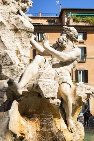 Dolce Vita Rome Collection - The Four Rivers Fountain in Piazza Navona Photographic Print