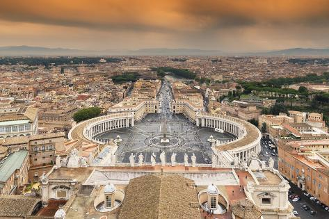 Dolce Vita Rome Collection - The Vatican City at Sunset Photographic Print