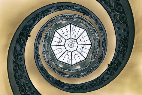 Dolce Vita Rome Collection - The Vatican Spiral Staircase Dark Beige Photographic Print