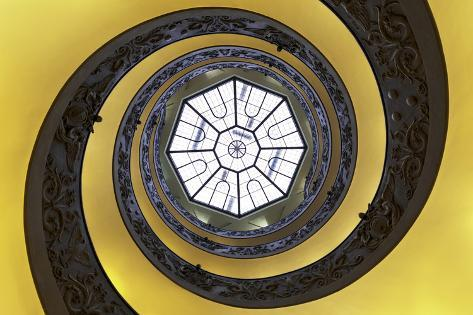 Dolce Vita Rome Collection - The Vatican Spiral Staircase Gold Photographic Print