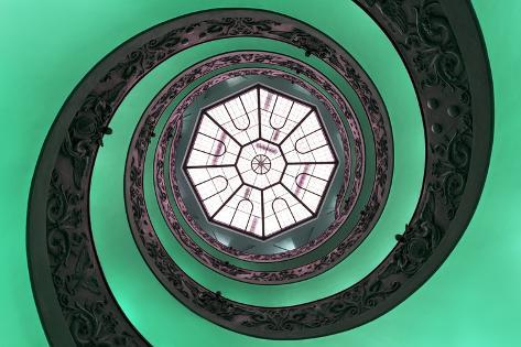 Dolce Vita Rome Collection - The Vatican Spiral Staircase Green Photographic Print