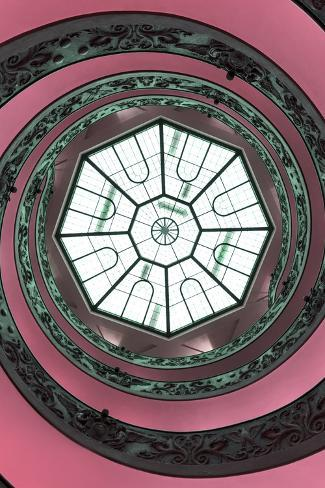 Dolce Vita Rome Collection - The Vatican Spiral Staircase Hot Pink II Photographic Print