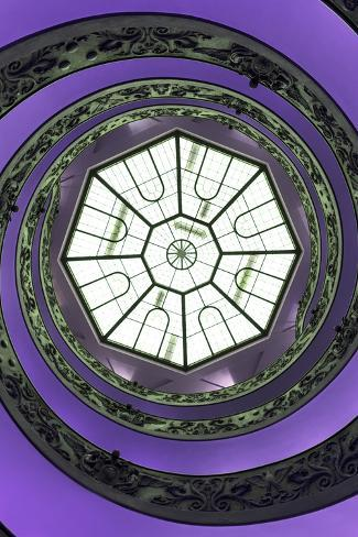 Dolce Vita Rome Collection - The Vatican Spiral Staircase Purple II Photographic Print