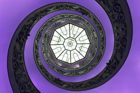 Dolce Vita Rome Collection - The Vatican Spiral Staircase Purple Photographic Print