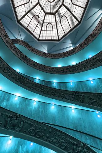 Dolce Vita Rome Collection - Turquoise Vatican Staircase Photographic Print