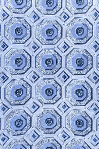 Dolce Vita Rome Collection - Vatican Blue Mosaic Photographic Print