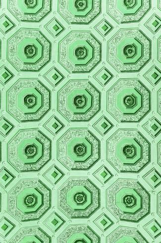 Dolce Vita Rome Collection - Vatican Green Mosaic Photographic Print