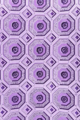 Dolce Vita Rome Collection - Vatican Purple Mosaic Photographic Print