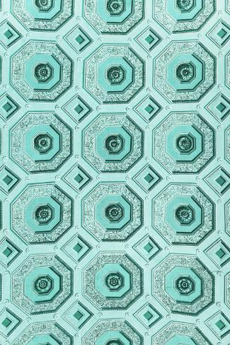 Dolce Vita Rome Collection - Vatican Turquoise Mosaic Photographic Print