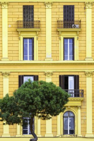Dolce Vita Rome Collection - Yellow Building Facade II Photographic Print