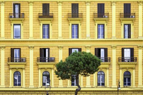 Dolce Vita Rome Collection - Yellow Building Facade Photographic Print
