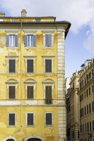 Dolce Vita Rome Collection - Yellow Buildings Facade II Photographic Print