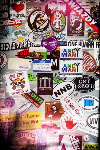 Instants of series urban stickers street art us key west miami