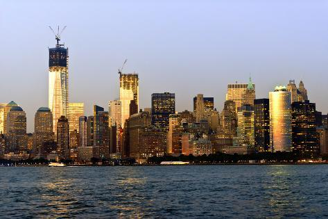 Landscapes - Sunset - Skylines - Mannattan - New York City - United States Photographic Print