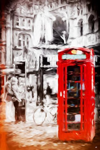 London Love - In the Style of Oil Painting Giclee Print