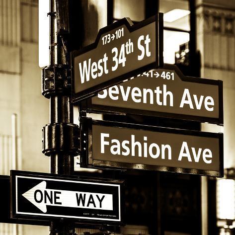 Fashion avenue street sign 6
