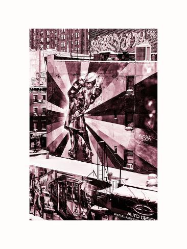 NYC Urban Street Art in Manhattan, in Winter Valokuvavedos
