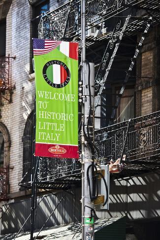 Paisaje urbano, Little Italy, Manhattan, Nueva York, Estados Unidos Lámina fotográfica