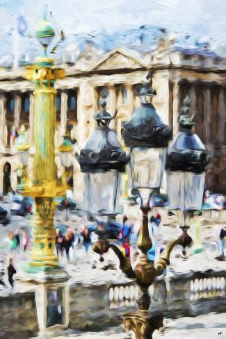 Paris architecture in the style of oil painting giclee for Paris architecture style