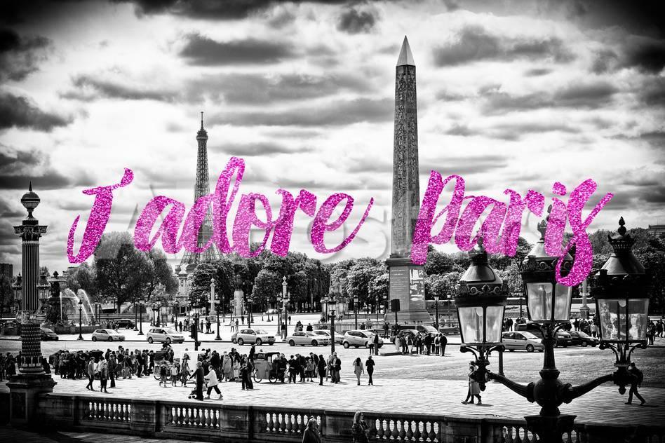 Paris Fashion Series J Adore Paris Place De La Concorde Ii Photographic Print Philippe Hugonnard Allposters Com