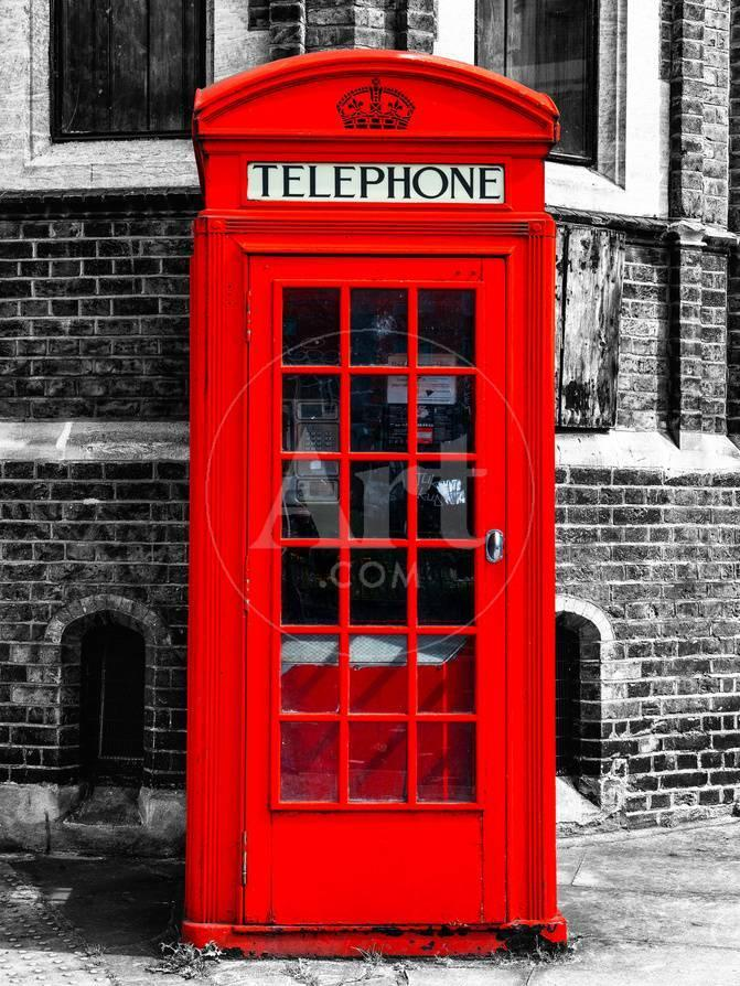 Red Phone Booth in London - City of London - UK - England - United ...