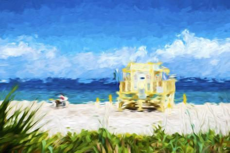 South Beach Miami In The Style Of Oil Painting Giclee Print By - Painting miami