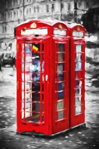 Telephone Booth II - In the Style of Oil Painting Giclee Print