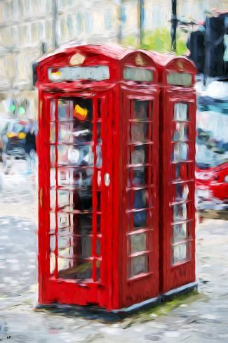 Telephone Booth - In the Style of Oil Painting Giclee Print
