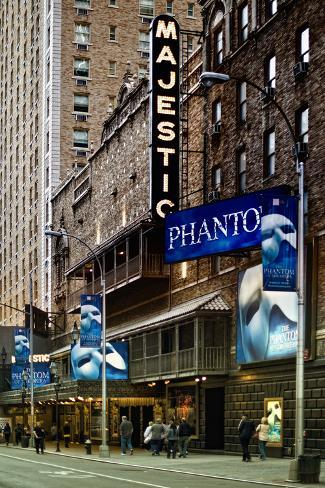 The Phantom Of The Opera - Majestic - Times Square - New York City - United States Photographic Print