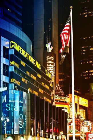 Urban Landscape - Nasdaq marketsite - Times Square - Manhattan - New York City - United States Photographic Print
