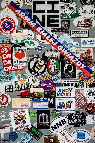 Urban stickers street art us key west miami