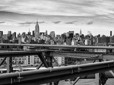 View of brooklyn bridge with the empire state buildings lmina view of brooklyn bridge with the empire state buildings lmina fotogrfica malvernweather Gallery